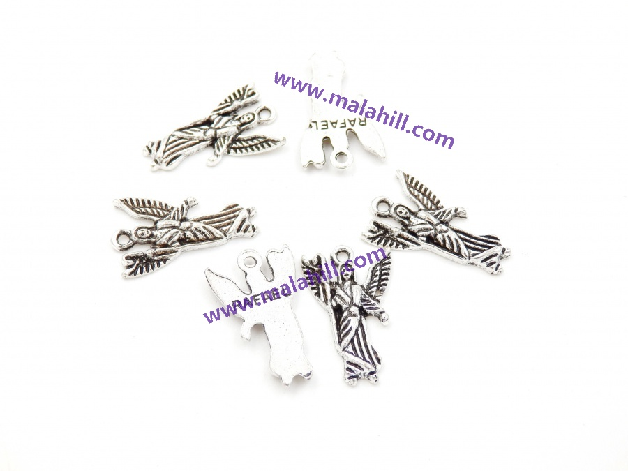 sold per bag 100pcs inside small charms for bracelet Wing 5x22mm Malahill charms for jewelry making