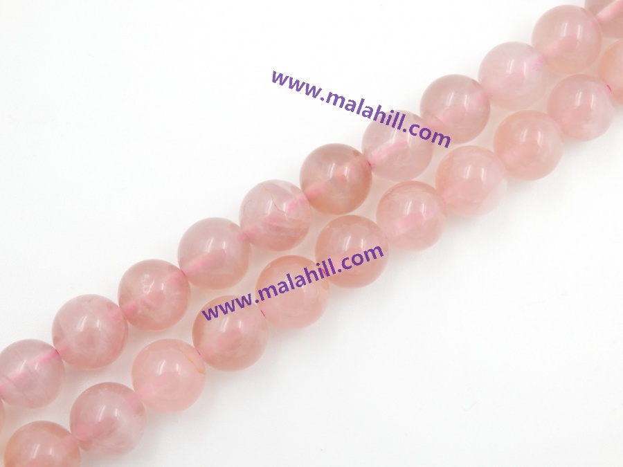 Precious Madagascar Rose Quartz, 4-10mm for choice, sold per strand